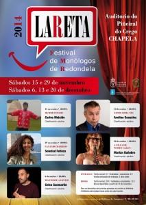 Nova edición do LARETA, festival de monólogos de Redondela