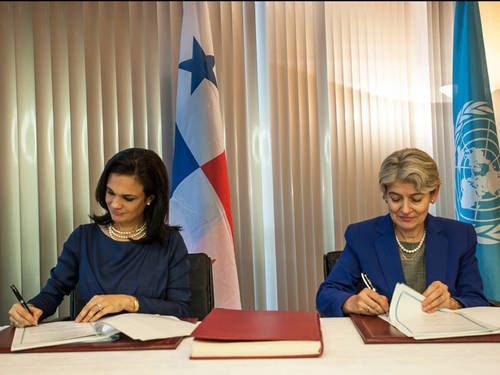 A UNESCO e Panamá asinan un protocolo de acordo en materia de patrimonio cultural